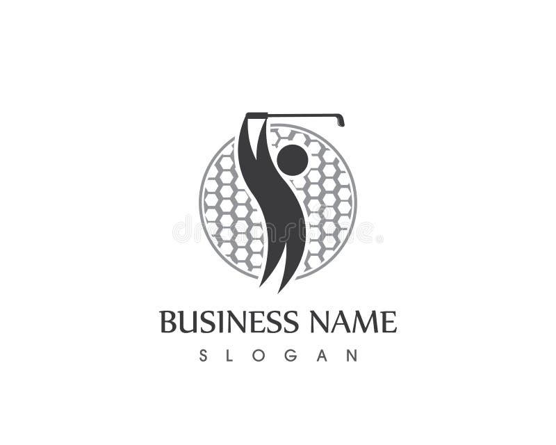 Διανυσματικό πρότυπο σχεδίου λογότυπων εικονιδίων γκολφ ανθρώπων απεικόνιση αποθεμάτων