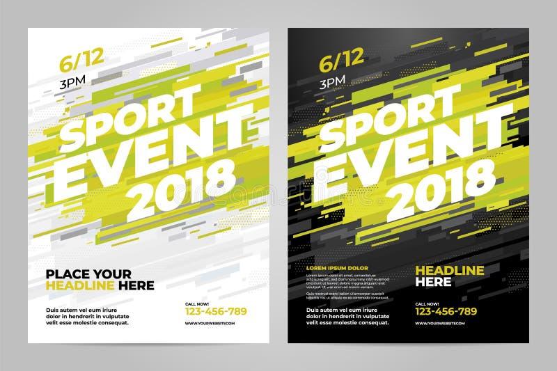 Διανυσματικό πρότυπο σχεδίου σχεδιαγράμματος για τον αθλητισμό