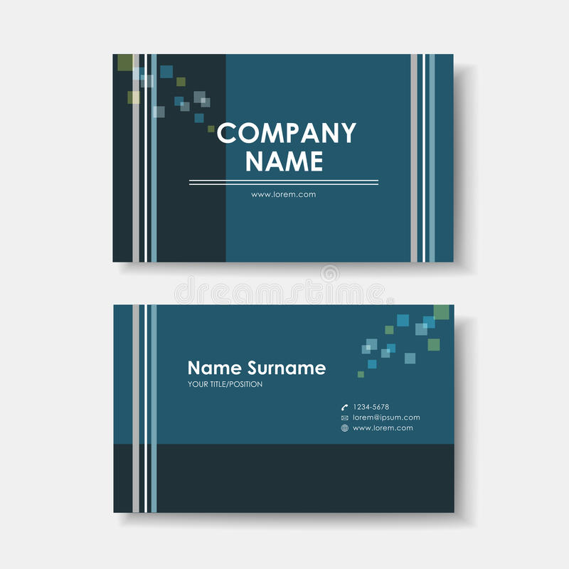 Διανυσματικό πρότυπο σχεδίου επαγγελματικών καρτών minimalistic ελεύθερη απεικόνιση δικαιώματος