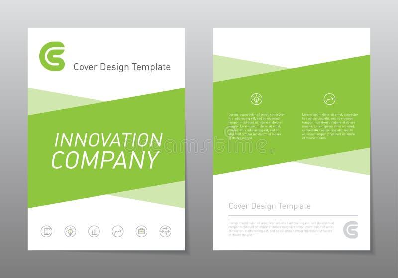 Διανυσματικό πρότυπο σχεδίου ιπτάμενων Πράσινο φυλλάδιο ετήσια εκθέσεων Abst διανυσματική απεικόνιση
