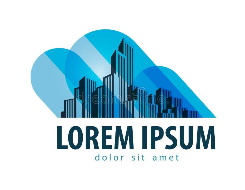 Διανυσματικό πρότυπο σχεδίου λογότυπων πόλεων οικοδόμηση ή απεικόνιση αποθεμάτων
