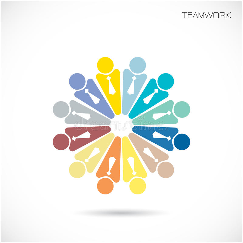 Διανυσματικό πρότυπο σχεδίου σημαδιών φίλων συνεργατών ομάδας Επιχείρηση Teamw απεικόνιση αποθεμάτων