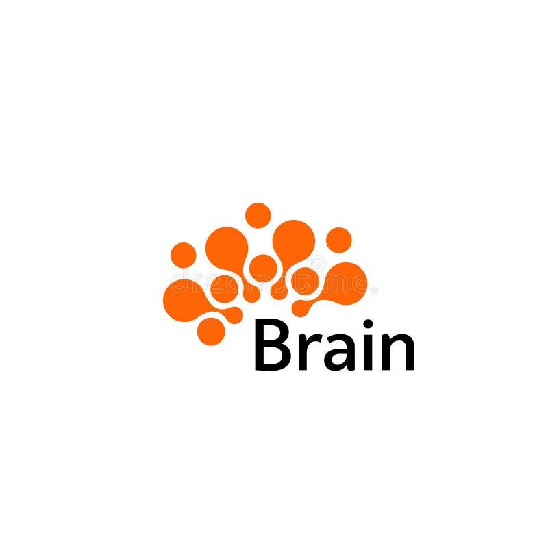 Διανυσματικό πρότυπο σχεδίου σκιαγραφιών λογότυπων εγκεφάλου Σκεφτείτε την έννοια ιδέας Λογότυπο εικονιδίων Logotype εγκεφάλου σκ διανυσματική απεικόνιση
