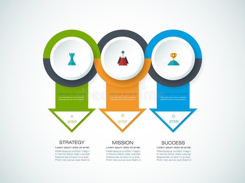 Διανυσματικό πρότυπο σχεδίου infographics ελεύθερη απεικόνιση δικαιώματος