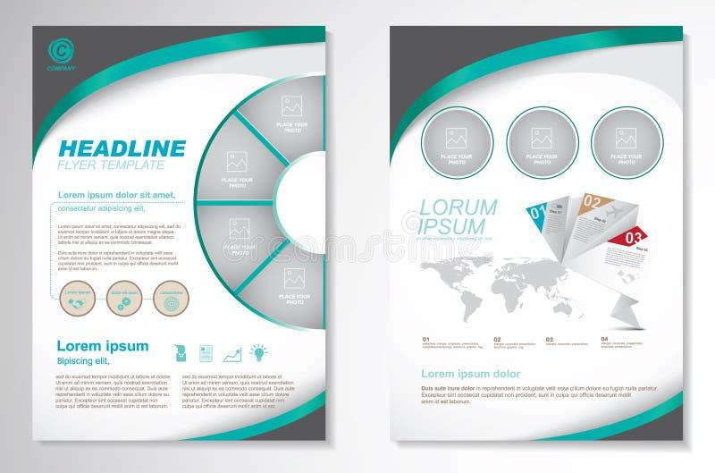 Διανυσματικό πρότυπο σχεδιαγράμματος σχεδίου ιπτάμενων φυλλάδιων Infographic διανυσματική απεικόνιση