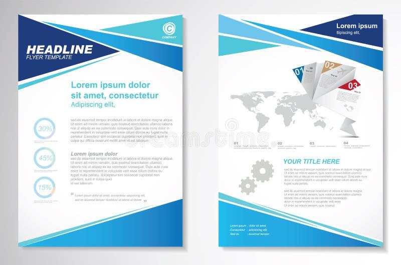 Διανυσματικό πρότυπο σχεδιαγράμματος σχεδίου ιπτάμενων φυλλάδιων Infographic ελεύθερη απεικόνιση δικαιώματος