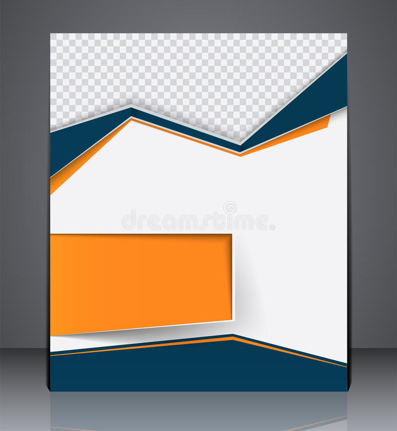 Διανυσματικό πρότυπο σχεδιαγράμματος σχεδίου ιπτάμενων επιχειρησιακών φυλλάδιων διανυσματική απεικόνιση