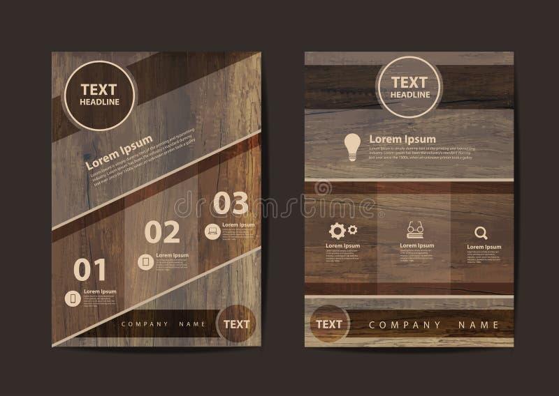 Διανυσματικό πρότυπο σχεδιαγράμματος σχεδίου ιπτάμενων επιχειρησιακών φυλλάδιων A4 στο μέγεθος διανυσματική απεικόνιση