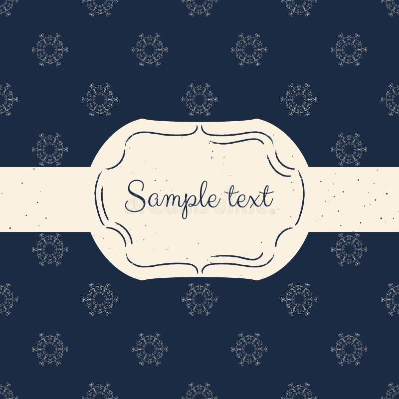 Διανυσματικό πρότυπο της εκλεκτής ποιότητας κάρτας για τη ευχετήρια κάρτα, τη γαμήλια πρόσκληση ή τις επιλογές Άνευ ραφής υπόβαθρ ελεύθερη απεικόνιση δικαιώματος