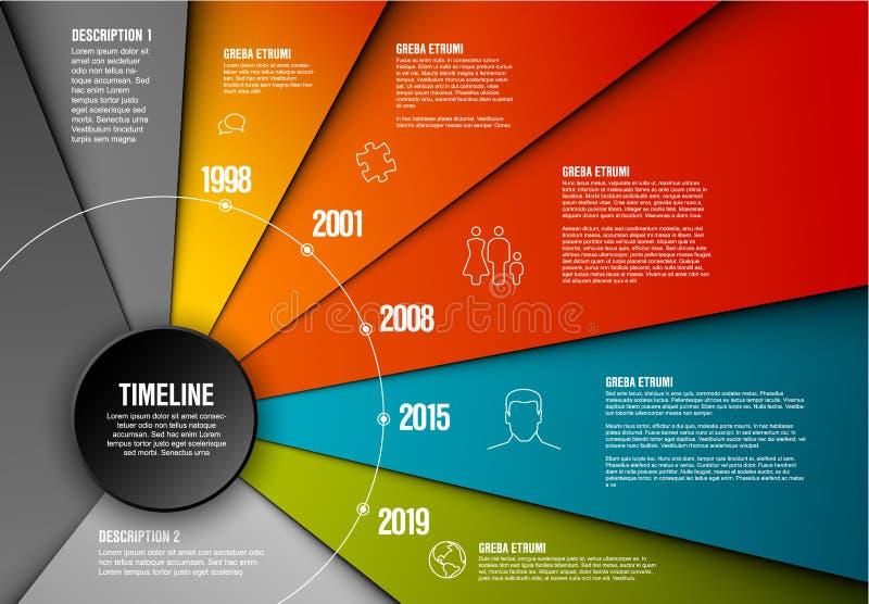 Διανυσματικό πρότυπο υπόδειξης ως προς το χρόνο Infographic ελεύθερη απεικόνιση δικαιώματος