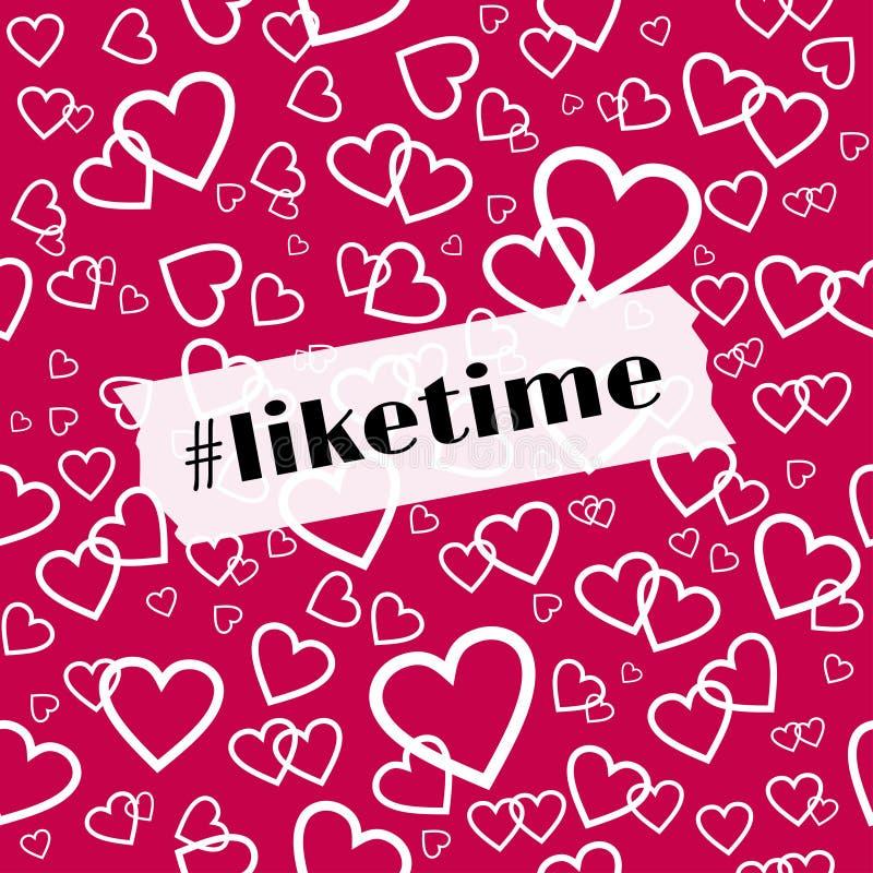 Διανυσματικό πρότυπο Liketime για τα κοινωνικά μέσα blog διανυσματική απεικόνιση
