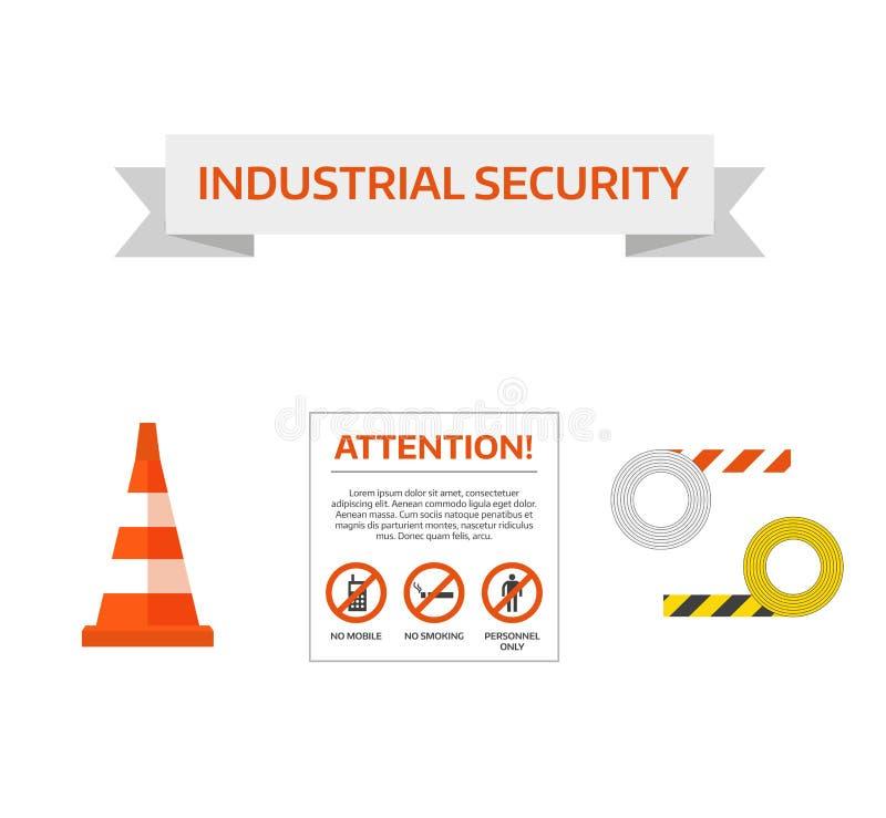 Διανυσματικό πρώτο οδικό σημάδι ασφάλειας κάτω από τη συλλογή σημαδιών κατασκευής ελεύθερη απεικόνιση δικαιώματος
