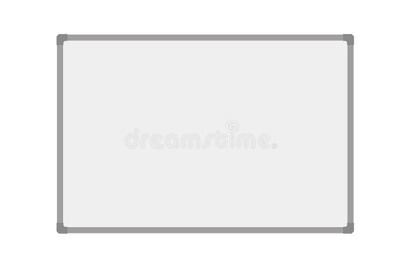 Διανυσματικό ρεαλιστικό κενό whiteboard ilustration που απομονώνεται ελεύθερη απεικόνιση δικαιώματος