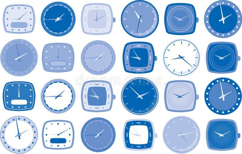 διανυσματικό ρολόι προσώ&pi ελεύθερη απεικόνιση δικαιώματος
