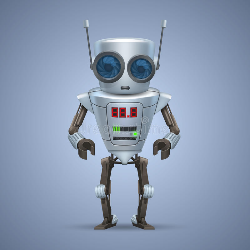 Διανυσματικό ρομπότ μετάλλων. διανυσματική απεικόνιση