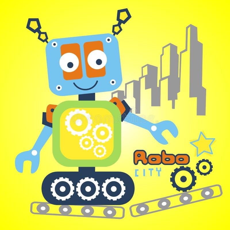 Διανυσματικό ρομπότ διανυσματική απεικόνιση