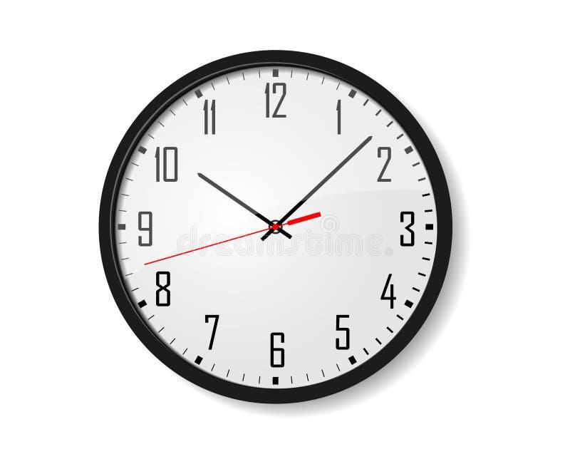 Διανυσματικό ρολόι τοίχων απεικόνιση αποθεμάτων