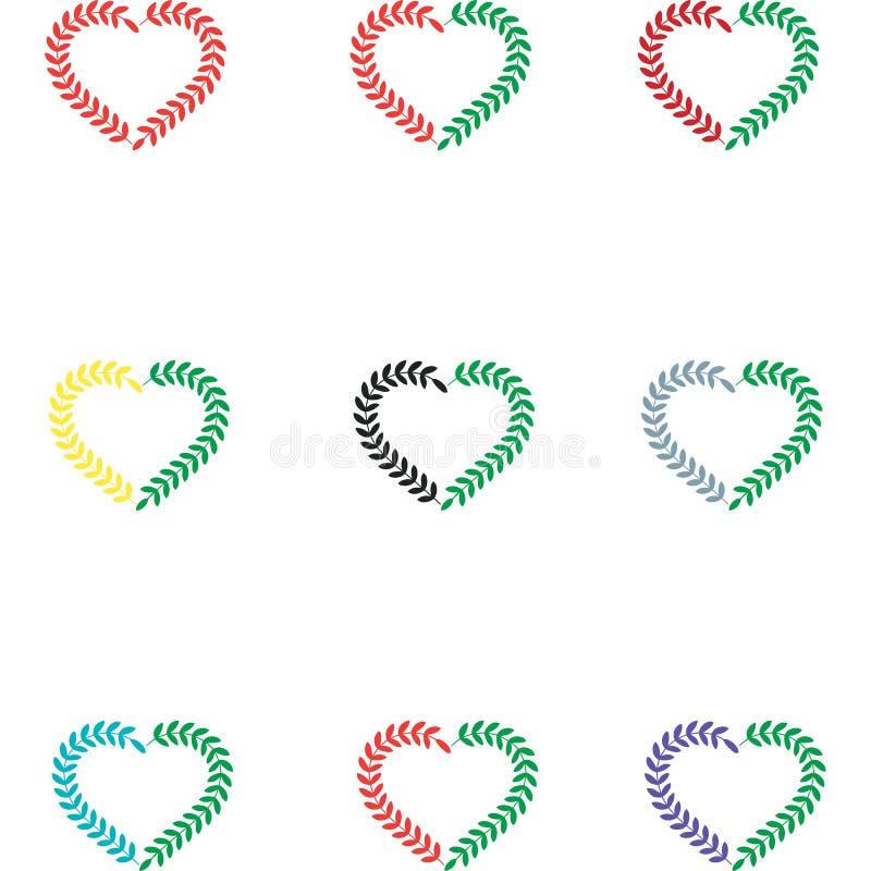 Διανυσματικό σημάδι αγάπης ελεύθερη απεικόνιση δικαιώματος