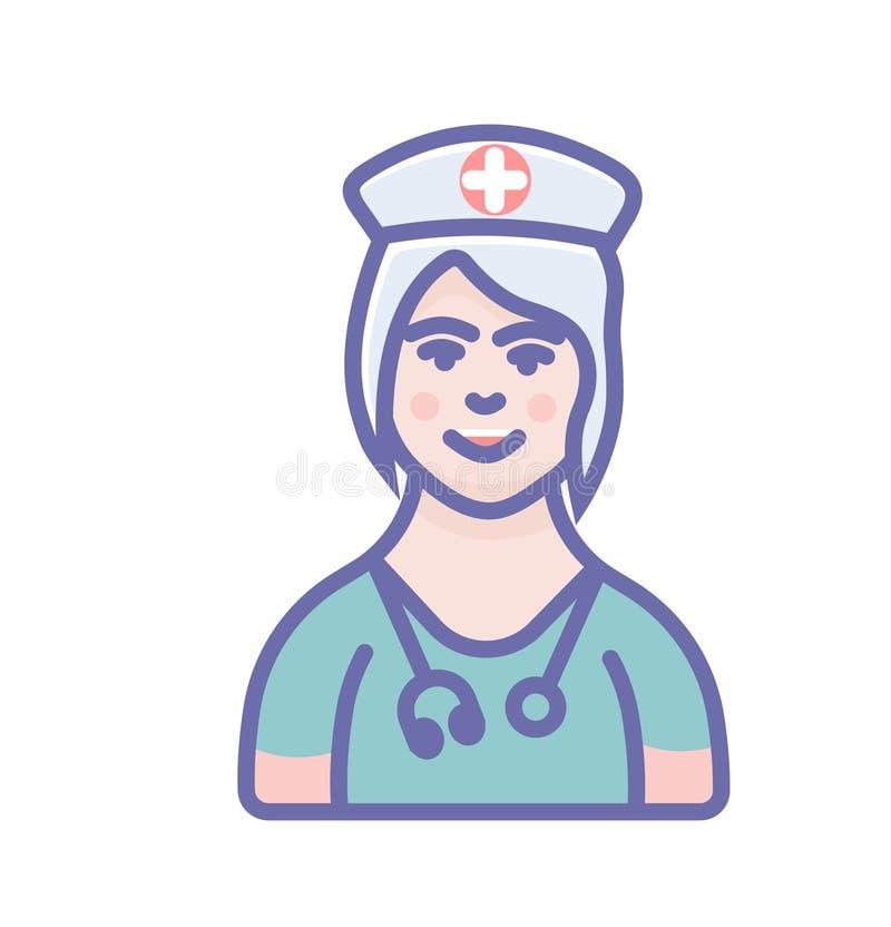 Διανυσματικό σημάδι ιατρών εικόνων ιατρών ή νοσοκόμων ελεύθερη απεικόνιση δικαιώματος