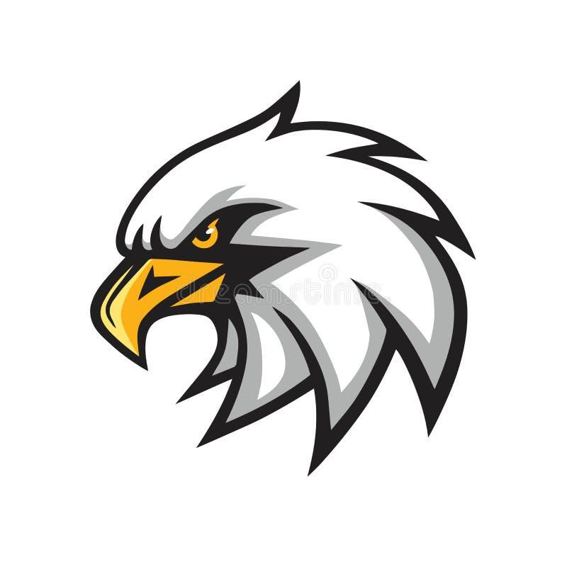 Διανυσματικό σημάδι λογότυπων μασκότ αετών διανυσματική απεικόνιση
