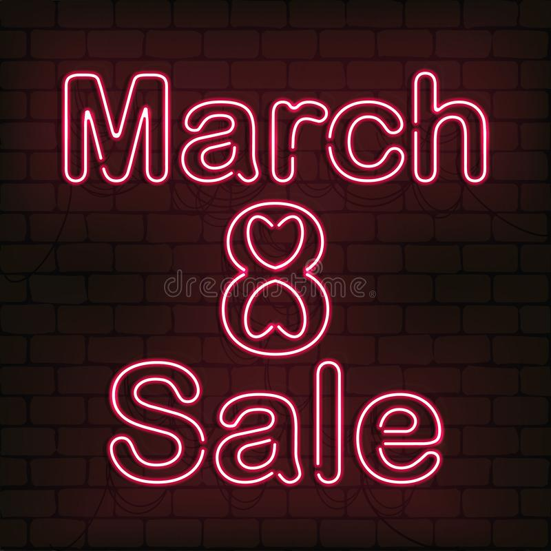 Διανυσματικό σημάδι 8 νέου της πώλησης Μαρτίου για τη διακόσμηση στο υπόβαθρο τοίχων Έννοια της ευτυχούς ημέρας γυναικών ` s στοκ φωτογραφίες με δικαίωμα ελεύθερης χρήσης