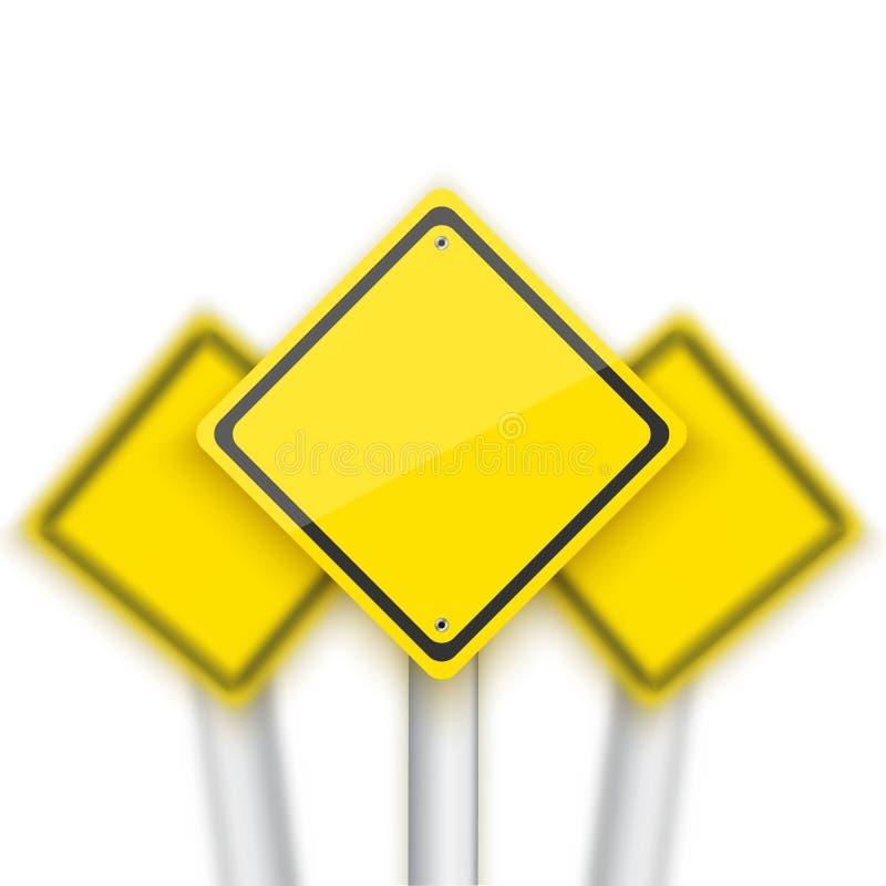 Διανυσματικό σημάδι οδικών κόκκινο στάσεων με τα θολωμένα σημάδια πίσω Ρεαλιστικό Β απεικόνιση αποθεμάτων