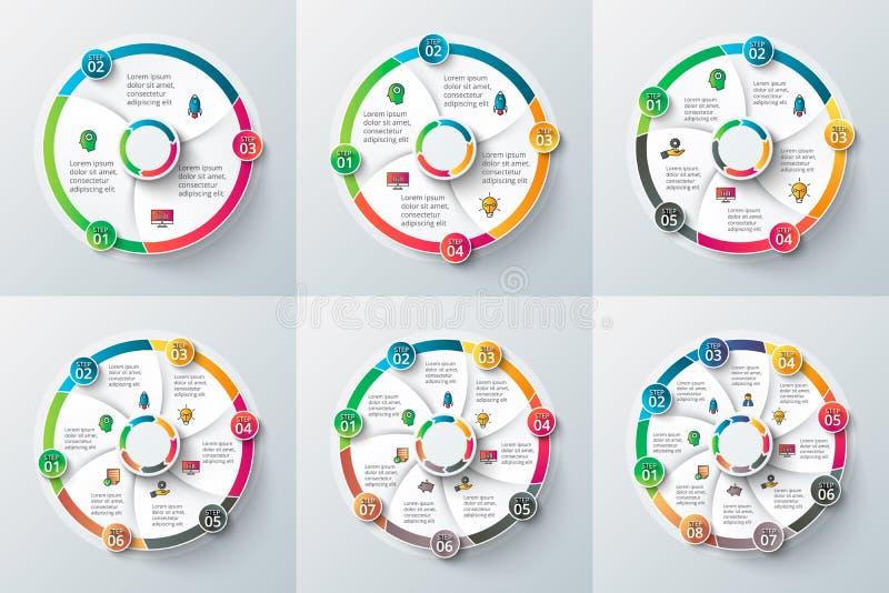 Διανυσματικό στοιχείο κύκλων για infographic διανυσματική απεικόνιση