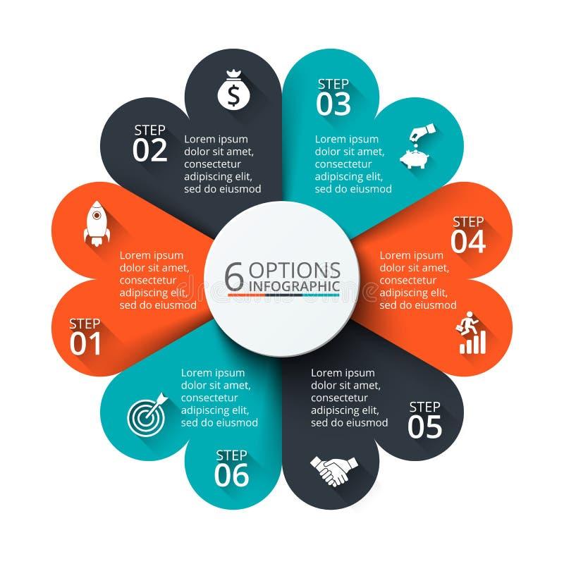 Διανυσματικό στοιχείο κύκλων για infographic ελεύθερη απεικόνιση δικαιώματος