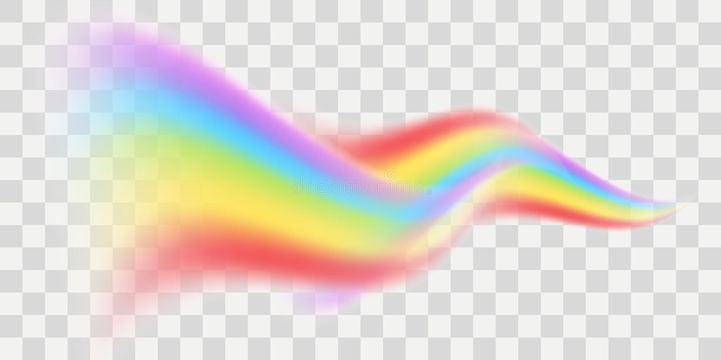 Διανυσματικό στοιχείο ουράνιων τόξων διανυσματική απεικόνιση