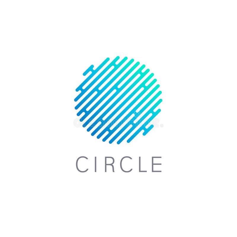 Διανυσματικό στοιχείο σχεδίου για την επιχείρηση μπλε σημάδι κύκλων διανυσματική απεικόνιση