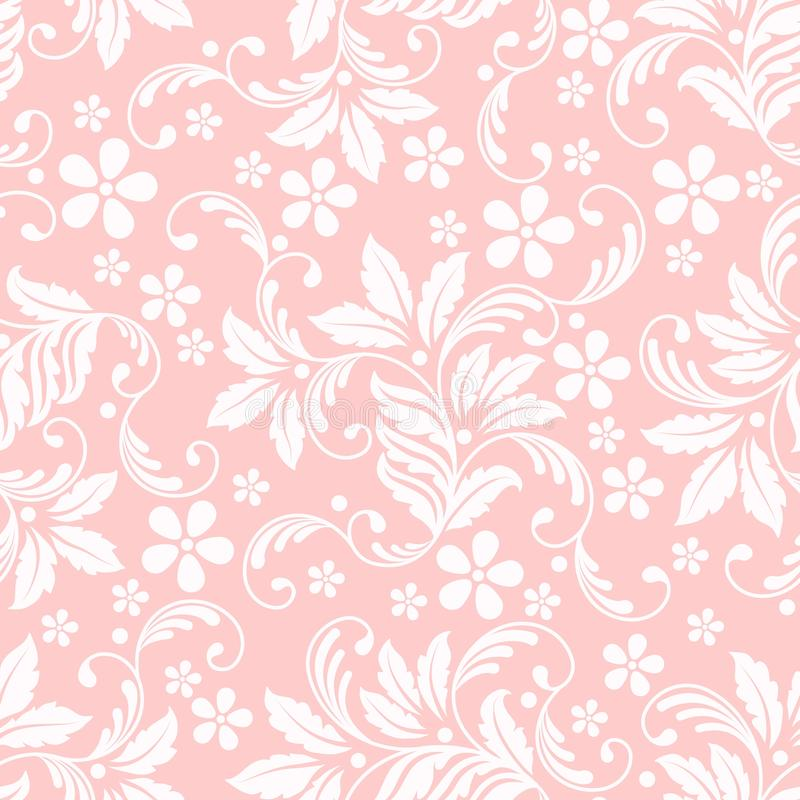 Διανυσματικό στοιχείο σχεδίων λουλουδιών άνευ ραφής Κομψή σύσταση για τα υπόβαθρα Κλασσική ντεμοντέ floral διακόσμηση πολυτέλειας ελεύθερη απεικόνιση δικαιώματος