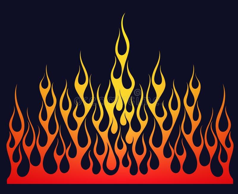 Διανυσματικό στοιχείο φλογών πυρκαγιάς διανυσματική απεικόνιση