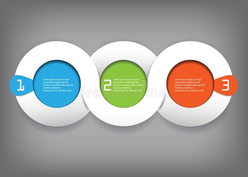 Διανυσματικό στρογγυλό σχέδιο Infographic ελεύθερη απεικόνιση δικαιώματος