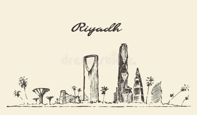 Διανυσματικό συρμένο απεικόνιση σκίτσο οριζόντων του Ριάντ ελεύθερη απεικόνιση δικαιώματος