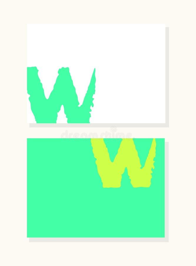 Διανυσματικό συρμένο χέρι γράμμα W με την ομαλή ακρυλική βούρτσα απεικόνιση αποθεμάτων