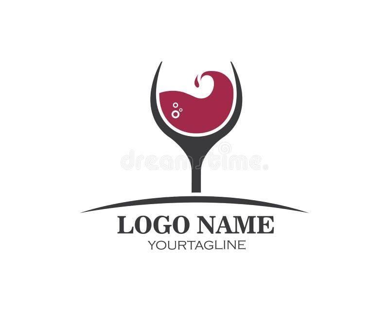 διανυσματικό σχέδιο απεικόνισης εικονιδίων λογότυπων γυαλιού κρασιού ελεύθερη απεικόνιση δικαιώματος