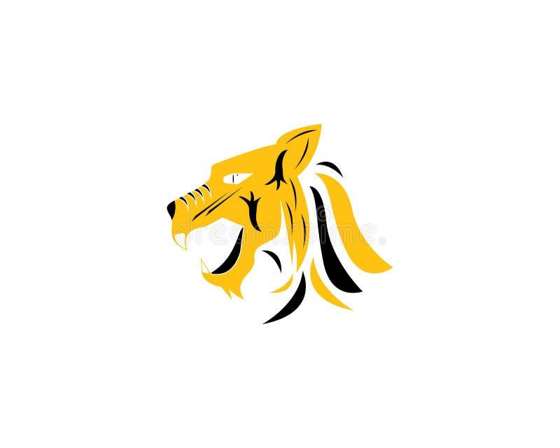 Διανυσματικό σχέδιο απεικόνισης εικονιδίων προτύπων λογότυπων τιγρών ελεύθερη απεικόνιση δικαιώματος