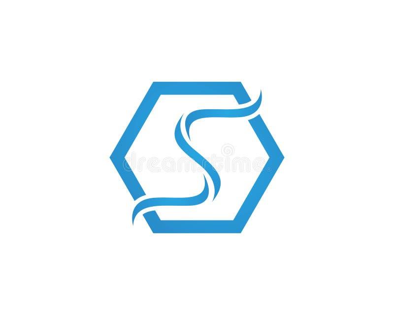 Διανυσματικό σχέδιο απεικόνισης προτύπων λογότυπων κυμάτων νερού επιστολών του S απεικόνιση αποθεμάτων