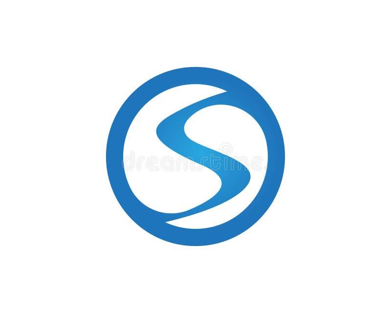 Διανυσματικό σχέδιο απεικόνισης προτύπων λογότυπων κυμάτων νερού επιστολών του S διανυσματική απεικόνιση