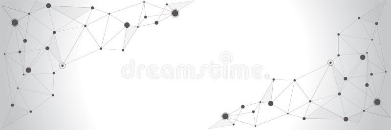 Διανυσματικό σχέδιο εμβλημάτων, συνδέοντας σημεία και γραμμές παγκόσμιο δίκτυο απεικόνιση αποθεμάτων