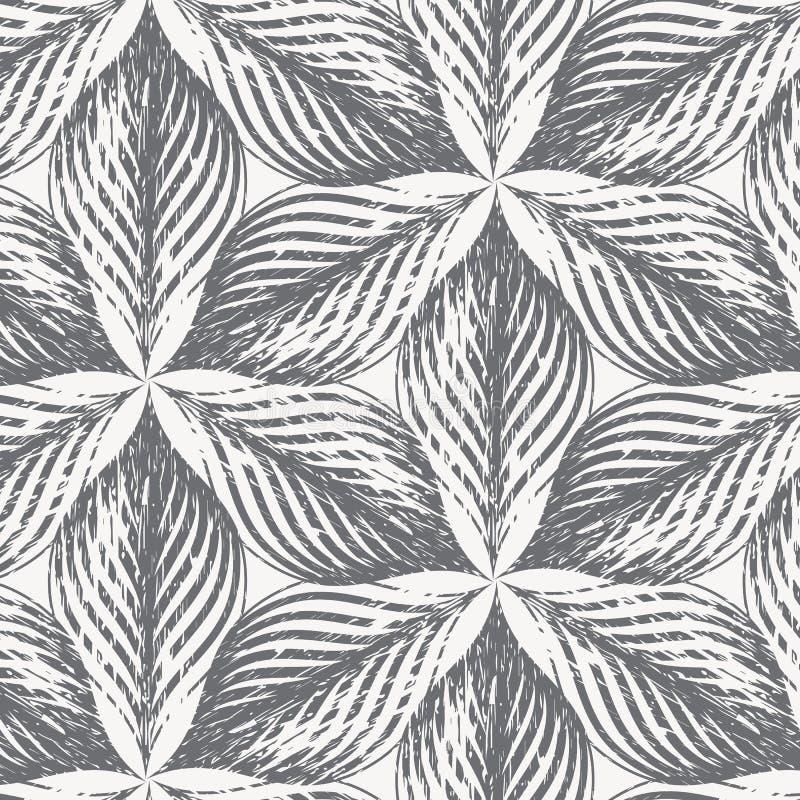 Διανυσματικό σχέδιο, επαναλαμβάνοντας τα αφηρημένο φύλλα grunge ή το πέταλο λουλουδιών γραφικός καθαρός για την εκτύπωση, ύφασμα, διανυσματική απεικόνιση