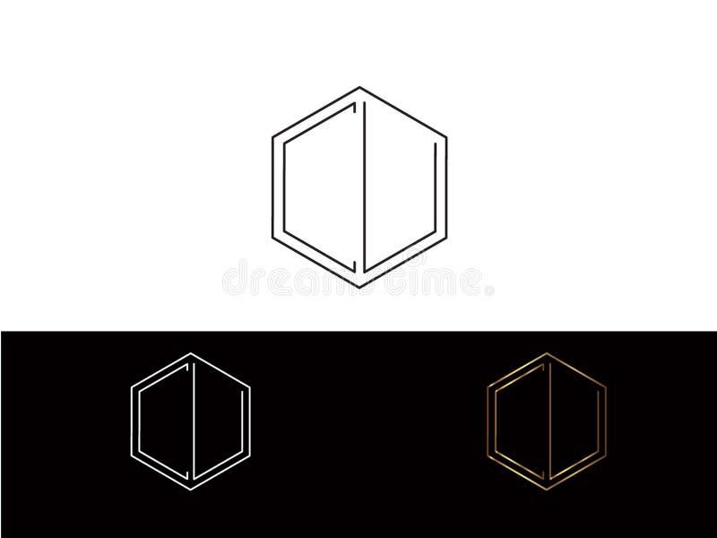 Διανυσματικό σχέδιο επιστολών μορφής $cu hexagon διανυσματική απεικόνιση