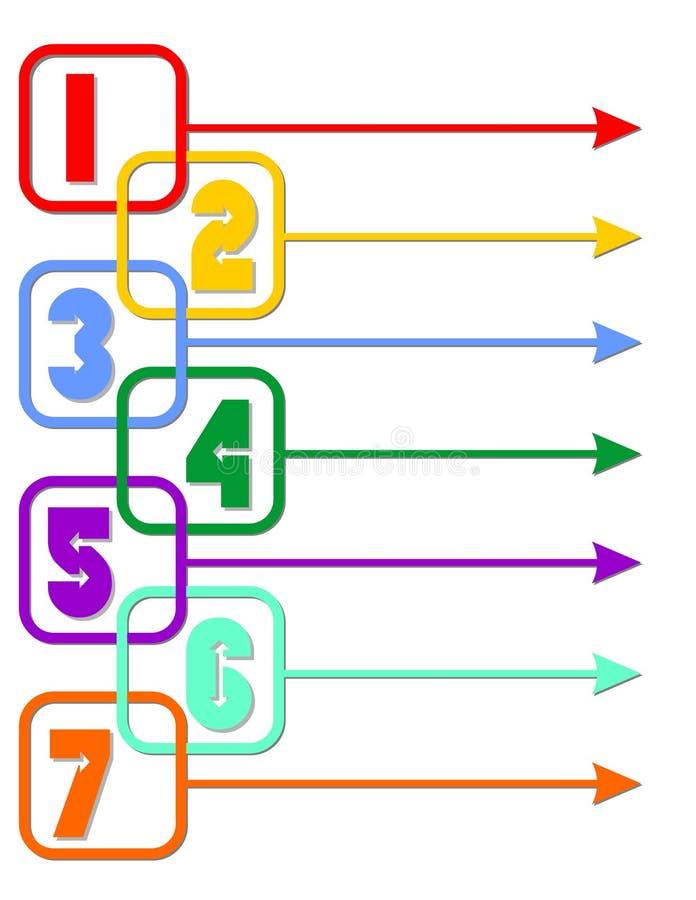 Διανυσματικό σχέδιο ετικετών Infographic με τα εικονίδια και 7 επιλογές ή βήματα Infographics για την επιχειρησιακή έννοια Για τι διανυσματική απεικόνιση