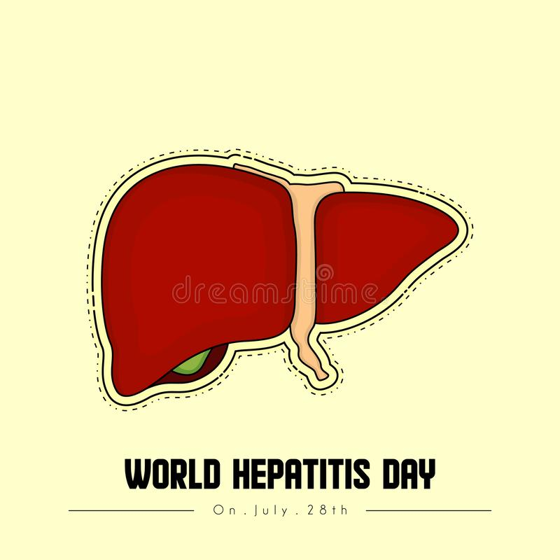 Διανυσματικό σχέδιο ημέρας παγκόσμιας ηπατίτιδας ελεύθερη απεικόνιση δικαιώματος