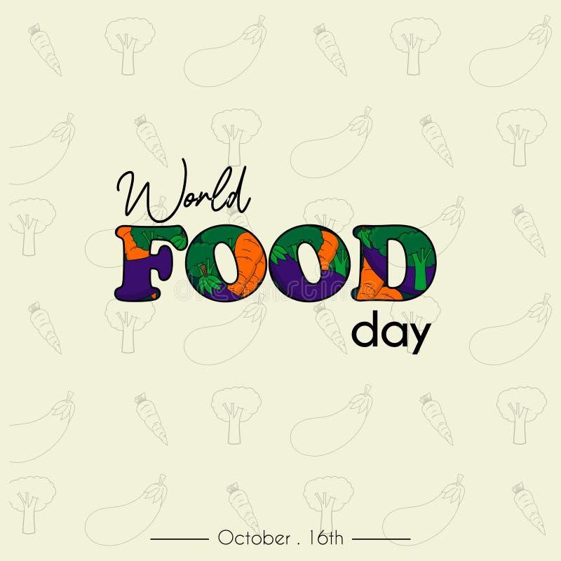 Διανυσματικό σχέδιο ημέρας παγκόσμιων τροφίμων στοκ εικόνες