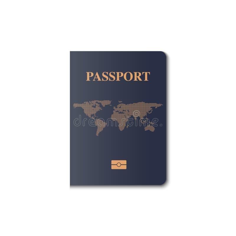 Διανυσματικό σχέδιο κάλυψης διαβατηρίων, πολίτης προσδιορισμού ελεύθερη απεικόνιση δικαιώματος