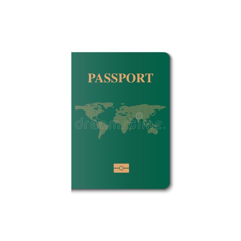 Διανυσματικό σχέδιο κάλυψης διαβατηρίων, πολίτης προσδιορισμού διανυσματική απεικόνιση