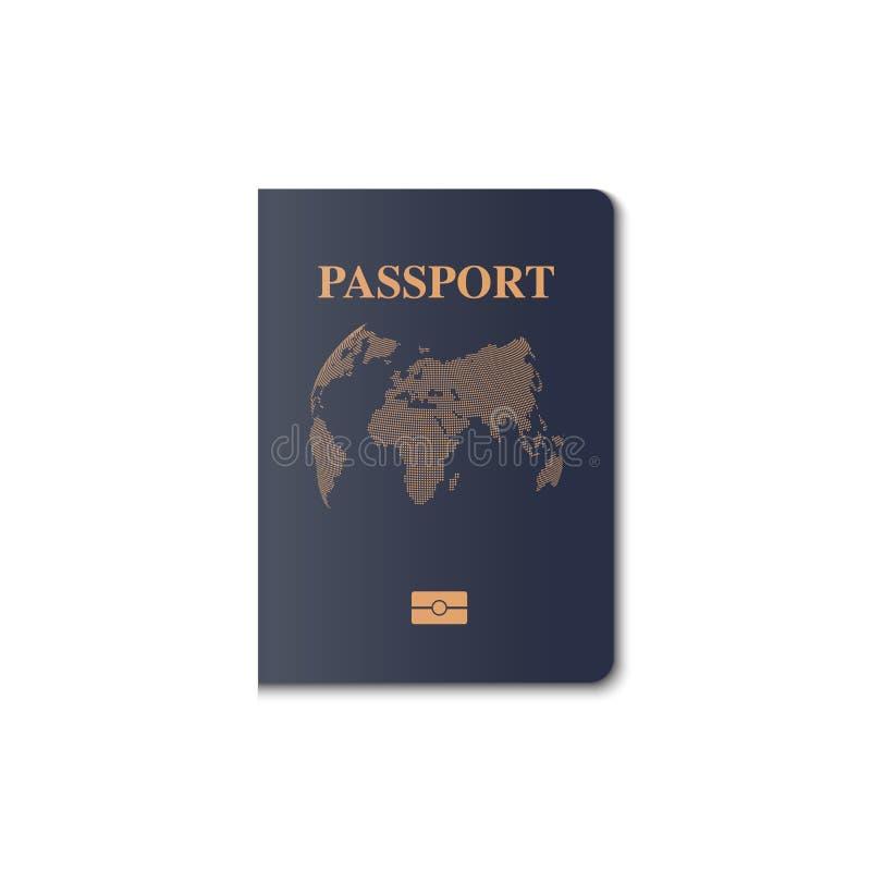Διανυσματικό σχέδιο κάλυψης διαβατηρίων, πολίτης προσδιορισμού, διάνυσμα, IL ελεύθερη απεικόνιση δικαιώματος