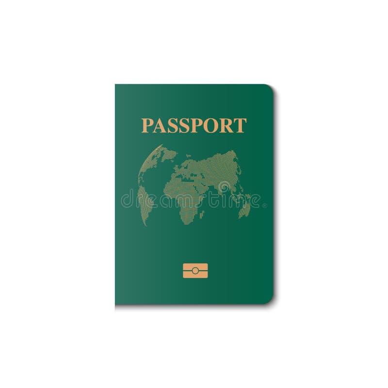 Διανυσματικό σχέδιο κάλυψης διαβατηρίων, πολίτης προσδιορισμού, διάνυσμα, IL απεικόνιση αποθεμάτων