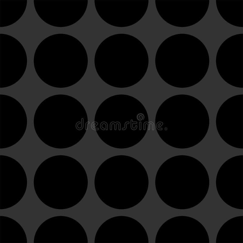 Διανυσματικό σχέδιο κεραμιδιών με τα μαύρα σημεία στο σκοτεινό γκρίζο υπόβαθρο διανυσματική απεικόνιση